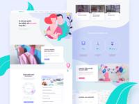 Baby website - Homepage