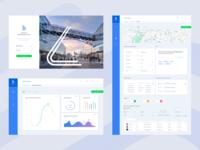 Data website - Login page, dashboard & forms
