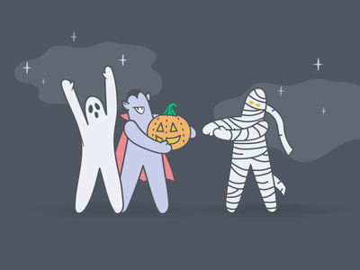 SpOoky Meebos spooky season mummy ghost festive pumpkin scary halloween bash branding brand illustration metacx product saas success customer meebos halloween spooky