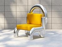 Isolation Chair 2020 industrial design chair design redshift c4d 3d render chair