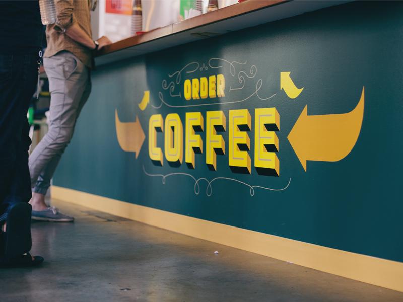 Philz Signage coffee signage type chromatic custom sign painting painted philz facebook