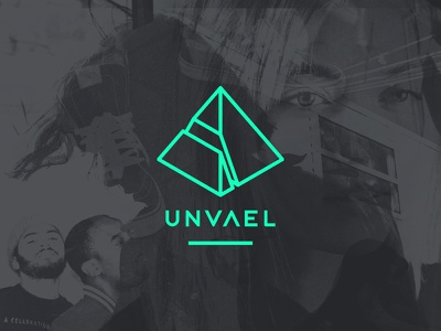Unvael music branding logo custom type type 3d polygon pyramid website unvael gems