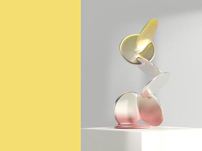 Quarantine Objects: Paddle Cactus sculpture redshift3d render c4d 3d