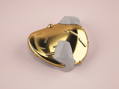 Found Objects minerals found objects pray 3d pottery gold c4d