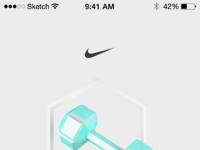 Nike app dumbell