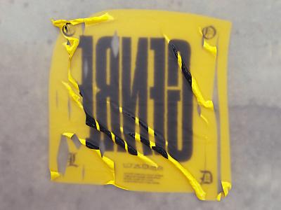 GENRE type yellow 3d c4d zine genre ice cold fabric tarp cloth