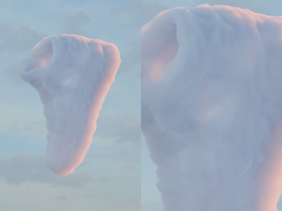 Sneaker Cloud nike shoes sneaker 3d artist octanerender c4d 3d clouds cloud