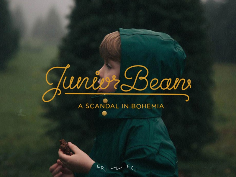 JuniorBean drawn script monoline blog adventure type hand