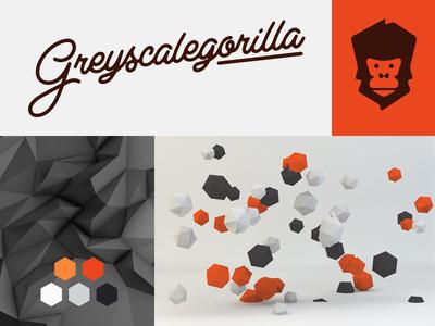 Greyscalegorilla Branding greyscalegorilla nick campbell branding logo type script gorilla c4d cinema 3d tutorials