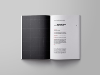 Editorial Design for Italian Design Society typography book layout design graphic editorial