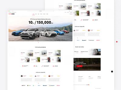 Toyota toyota car dealer car czech 2020 uiux modern minimalism website webdesign product design design ui