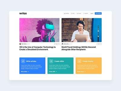 Modern news website czech 2020 uiux modern minimalism website webdesign product design design ui clean news