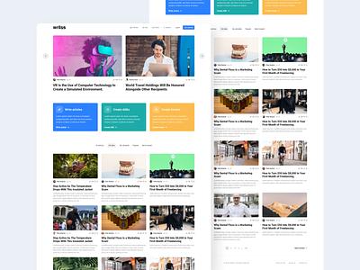 Modern news website clean czech 2020 modern uiux minimalism website webdesign product design design ui newsfeed news