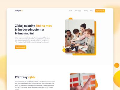 Job quiz website quiz find job he website he czech 2020 uiux modern minimalism website webdesign product design design ui