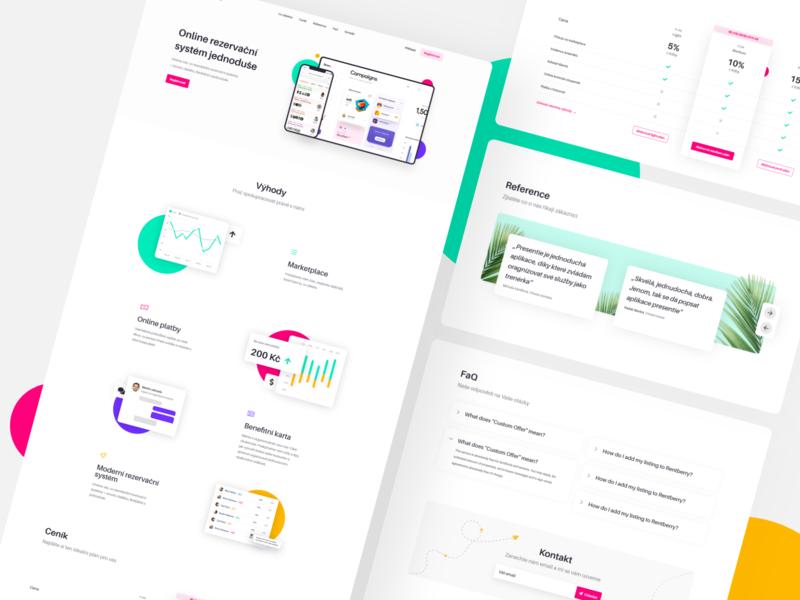 startup landing page colorful landingpage startup website startup czech 2020 uiux modern minimalism website webdesign product design design ui