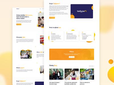 Job quiz website nice deisgn simple website quiz job website orange startup czech uiux 2020 modern minimalism website webdesign product design design ui