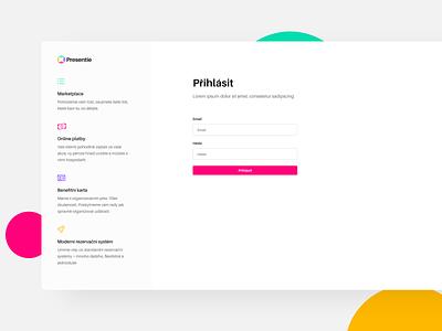 Startup sign in page colrful log in page sign in czech uiux 2020 modern minimalism website webdesign product design design ui