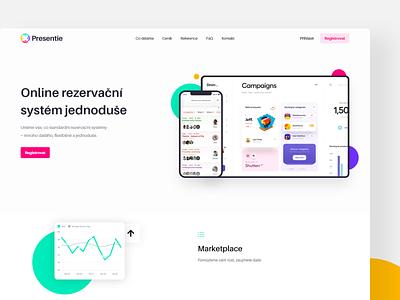 Startup landing page adobe xd design adobe xd startup landing page startup czech uiux 2020 modern minimalism website webdesign product design design ui