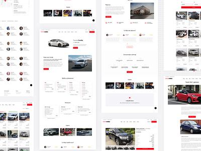 Toyota car dealer website car dealer minimalism modern 2020 webdesign product design design clean ui car website