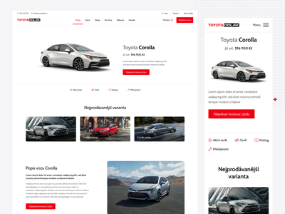Toyota webdesign minimalism website 2020 modern ui design mobile fisrt car dealer website car dealer car website mobile car website toyota website toyota