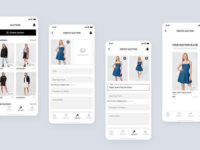 Bidie mobile app design auction app auction bid biding app mobile app czech modern minimalism product design design ui
