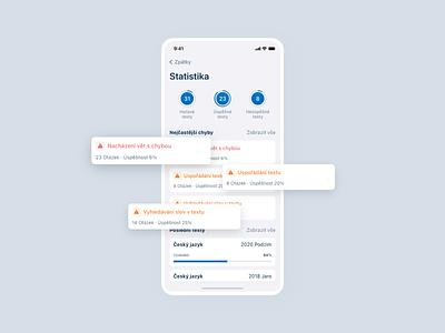 Maturita app clean czech uiux modern minimalism product design design ui education app test app cermat maturita mobile app app
