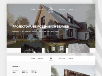 Kontra Architects homepage