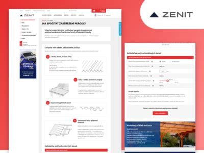 Kalkulačky na výpočet množství materiálu pro Zenit