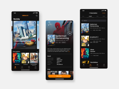 Cinema City app concept