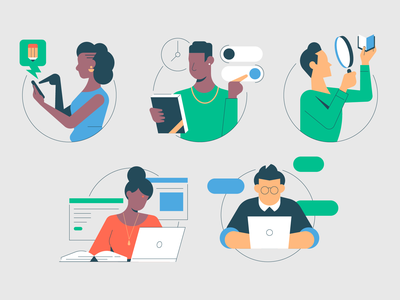 Educational Technology people illustration instructor distance learning courseware learning app learning software thumbnails people icons technology self taught diversity people education app edtech educational technology educational illustration education