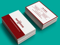 Business Cards for L.A. Mathieson Co.