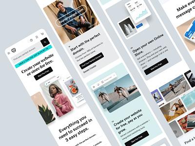 GoDaddy Mobile Homepage homepage mobile