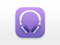 Headphones Icon made in Sketch