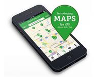 Angie's List iOS app Maps