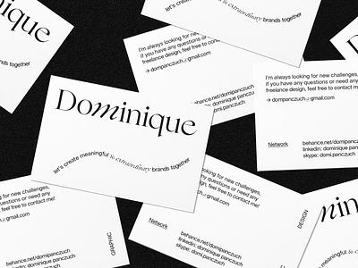 Dominique print system editorialdesign editorial identity graphicdesign brandidentity branding