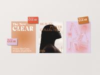 The New Clear letterhead design buisness card print design print identitydesign brandidentity identity branding type letters editorial design typography graphicdesign