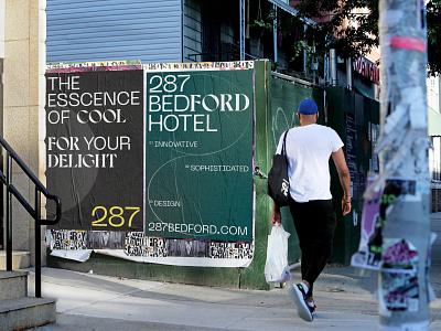 287 Bedford Hotel branding concept brandidentitydesign branding design editorial streetart posterdesign signage poster brandidentity print identity brand letters type branding design photography typography graphicdesign