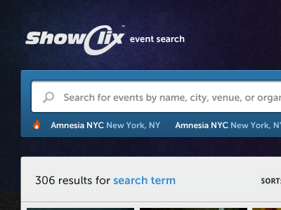 Event Search Prototype search event prototype