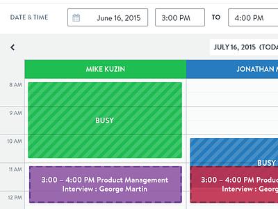 Multi-Schedule time date schedule calendar