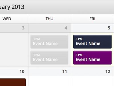Event Calendar calendar events