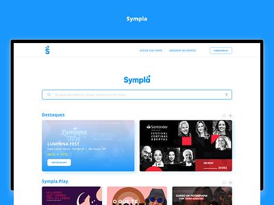 Sympla - Redesign Concept [Web] web redesign web design adobe xd minimal interface ui design ux design design