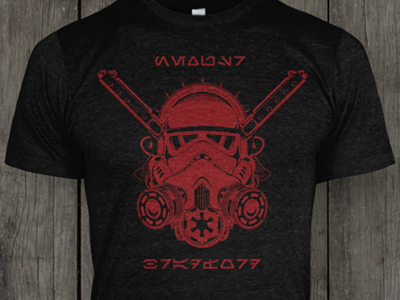 Stormtrooper tshirt black red