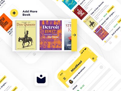 MindRead UI Design android ios mobile app app  design book yellow app ux ui design