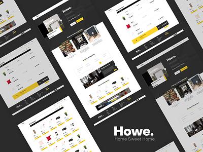 Howe. UI Design decoration home ecommerce website ux ui design