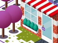 Retail store Isometric Illustration