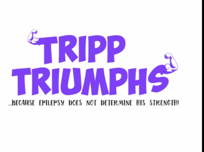 Tripp's Strength logo branding epilepsywarrior tripptriumphs