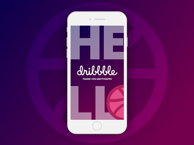 Dribbble Hello Small thanks mobile dribbble first shot debut hello