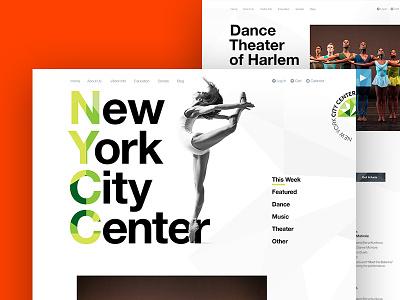 New York City Center Redesign art direction interactive digital branding non-profit design website ux ui web