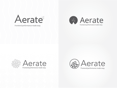 Aerate logo identity exploration