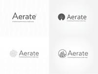 Aerate logo identity exploration